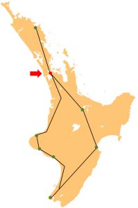 North Island New Zealand Travel Route